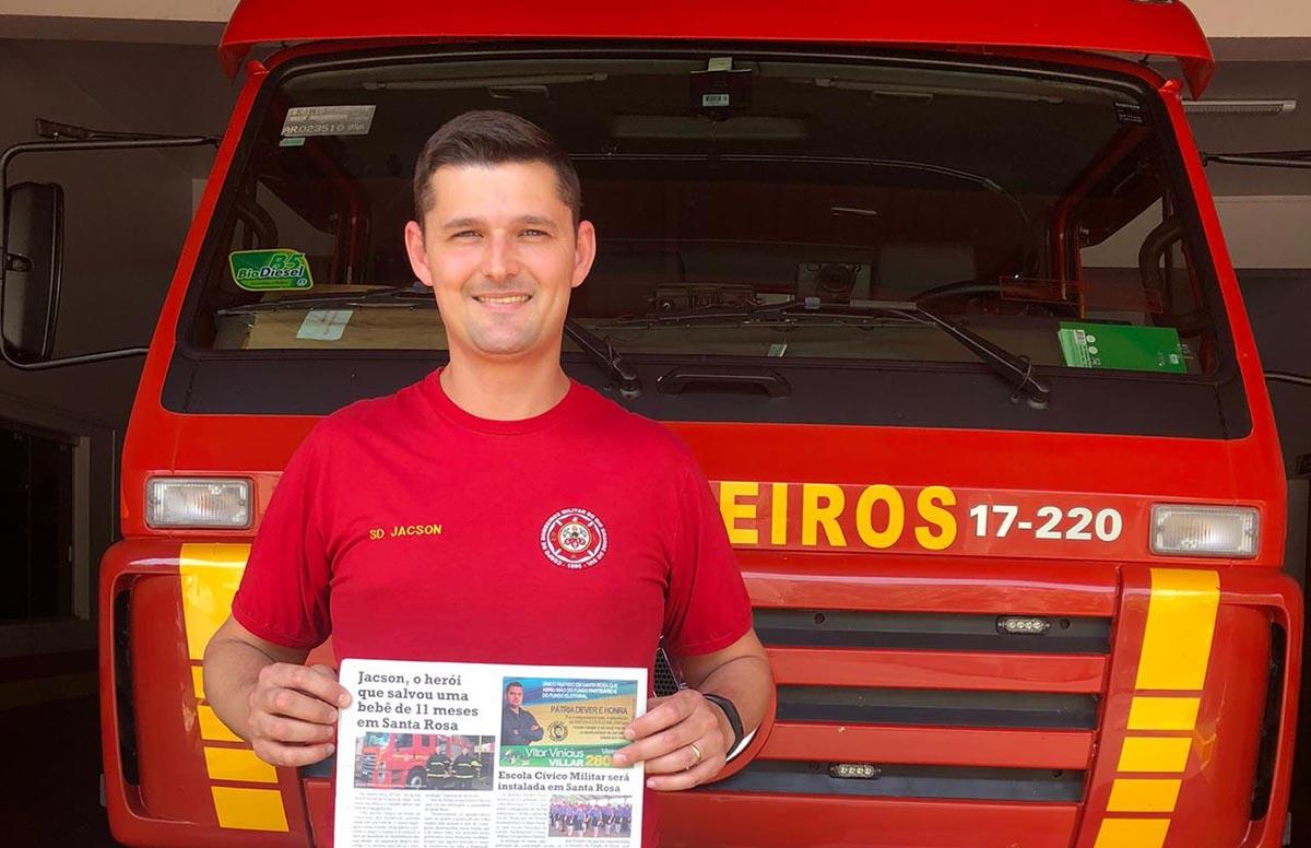 Jacson, o herói que salvou uma bebê de 11 meses em Santa Rosa